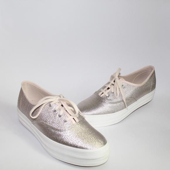 703329665e7 Keds Champagne Triple Lurex Shimmer Sneakers 8.5